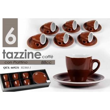 TAZZE CAFFE' SEI PEZZI CON...